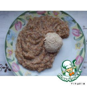 Рецепт Гречневое пюре с фрикадельками на пару