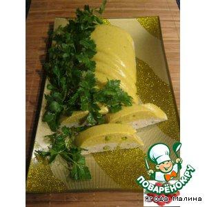Рецепт Куриный террин с зеленым горошком