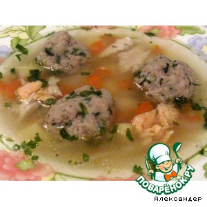 Рецепт Суп с рыбными тефтелями