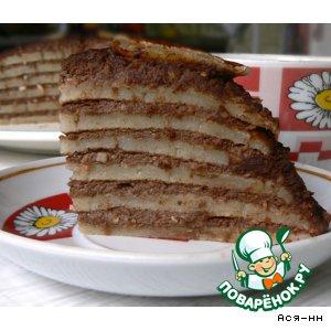 Рецепт Постный блинный торт