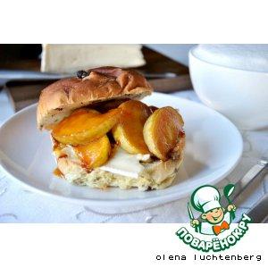 Рецепт Бутерброд с сыром и карамельным яблоком