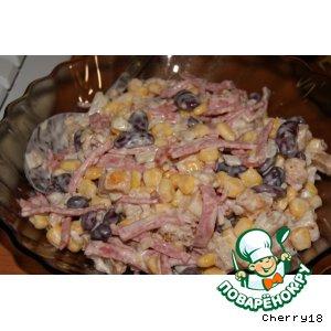 Салат с сухариками простой пошаговый рецепт с фото как готовить