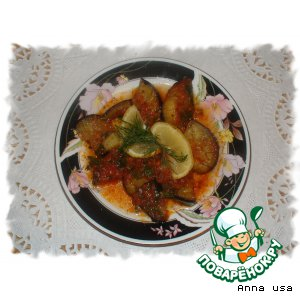 Рецепт Синенькие в томатно-чесночном соусе