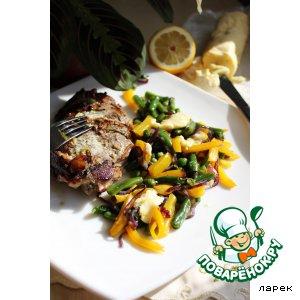Рецепт Баранина с имбирным маслом и рататуем из зимних овощей