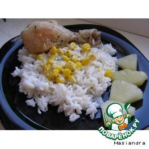 Рецепт Курица с кукурузой в сметанном соусе