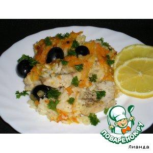 Рецепт Щука с рисом из духовки