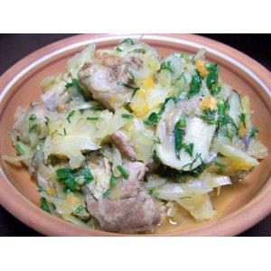Рецепт Свинина, тушенная с капустой