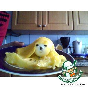 """Рецепт Сырная корзинка с яйцом """"Гюльчатай"""""""