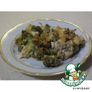 Запеченная брокколи с курицей вкусный пошаговый рецепт приготовления с фото как готовить