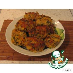 Рецепт Овощные котлеты с грибами и морской капустой