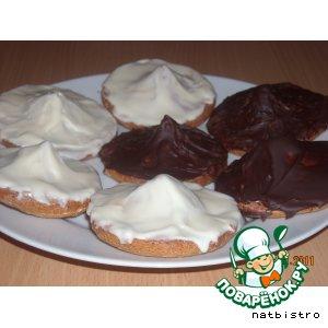 Рецепт Марципановое печенье с шоколадной начинкой