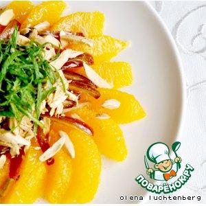 Марокканский апельсиновый салат с финиками