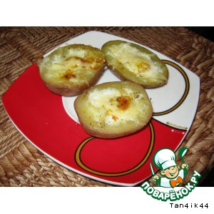 Рецепт Картофель с перепелиными яйцами