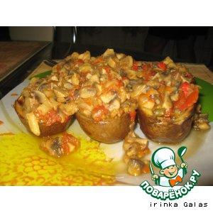 Рецепт Запеченная картошка с грибной начинкой