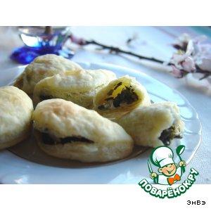 Рецепт Слоеные пирожки с тархуном и зеленым луком