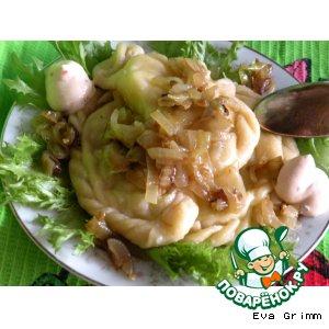 Рецепт Картофельно-творожные вареники на желтковом тесте