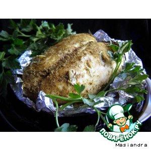 Рецепт Куриная грудка с чесноком в мультиварке