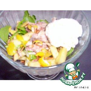 Рецепт Салат с тунцом и яичным суфле