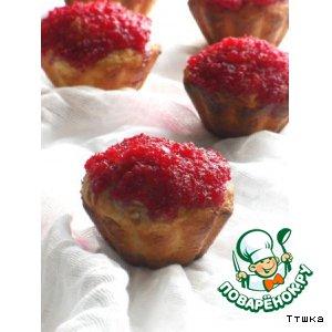 Рецепт Творожный кекс с клюквенной глазурью