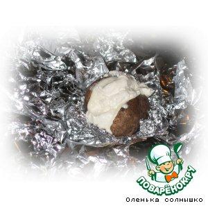 Рецепт Печеный картофель с суфле из тимьяна