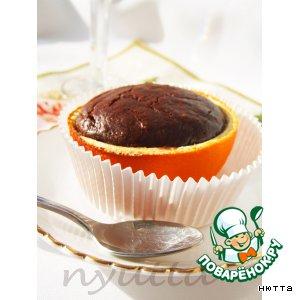 """Рецепт Десерт """"ШокоШок в  апельсиновых  чашках"""""""
