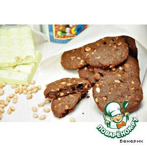 Рецепт Шоколадно-медовое печенье с орехами
