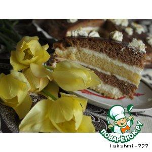 Рецепт Нежный торт с лимонным кремом