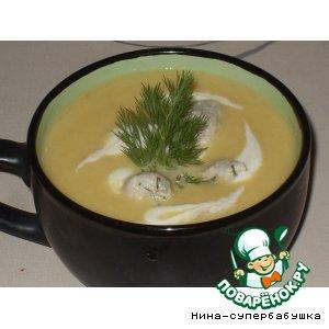 Рецепт Суп-пюре из кольраби с куриными клецками