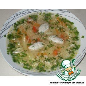 Рецепт Суп с макаронами и куриными клецками