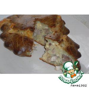 Рецепт Кекс с куриным филе и сыром