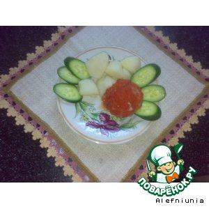 Рецепт Мясные шарики с начинкой из фасоли и лука