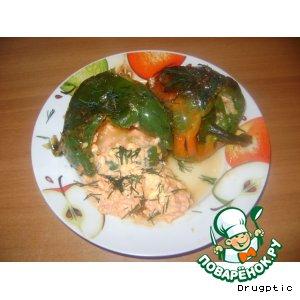 Рецепт Перец фаршированный луком и морковью а сметанном соусе