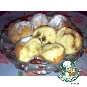 Рецепт Пончики с джемом и с яблоками