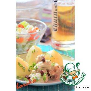 Рецепт Рыбка, тушенная в пиве, с лимоном и изюмом