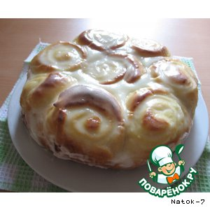 """Рецепт Пирог """"Творожные розы"""""""