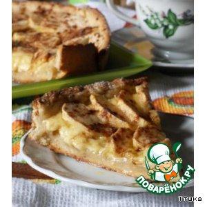 Рецепт Яблочный пирог с сыром