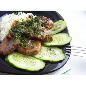 Рецепт Язык говяжий в кисло-сладком соусе