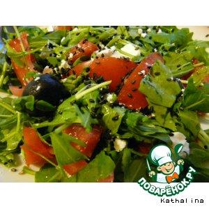Весенний салат с черным кунжутом домашний рецепт с фото как готовить