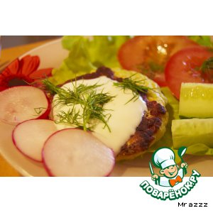 Рецепт Курино-кабачковые оладушки