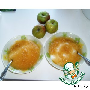 Рецепт Манная каша с яблочным киселем