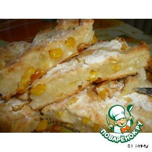 Рецепт Творожная кукурузная лепешка