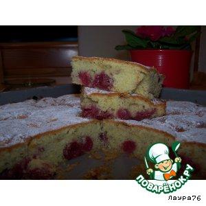 Вишневый пирог пошаговый рецепт приготовления с фотографиями готовим