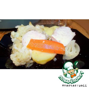 Рецепт Куриная грудка, запеченная с овощами