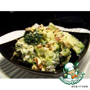 Рецепт Салат из брокколи с сырным соусом