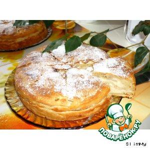 Слоеный манный пирог
