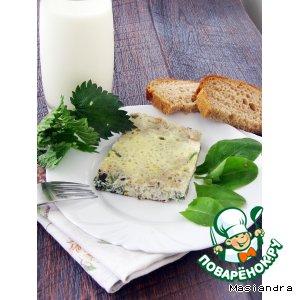 Рецепт Омлет с молодой крапивой, одуванчиком и щавелем в мультиварке