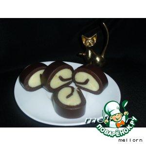Рецепт Десерт «Шоколадная завитушка»
