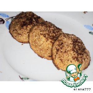 Рецепт Кокосовое печенье со вкусом капуччино