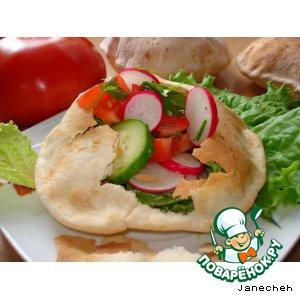 Рецепт Хлебная миска для салата