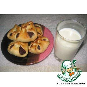Рецепт Несдобные булочки с начинкой из сухофруктов